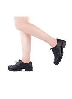 Modabuymus Modabuymus Gerçek Deri Kadın Oxford Ayakkabı - Fogli